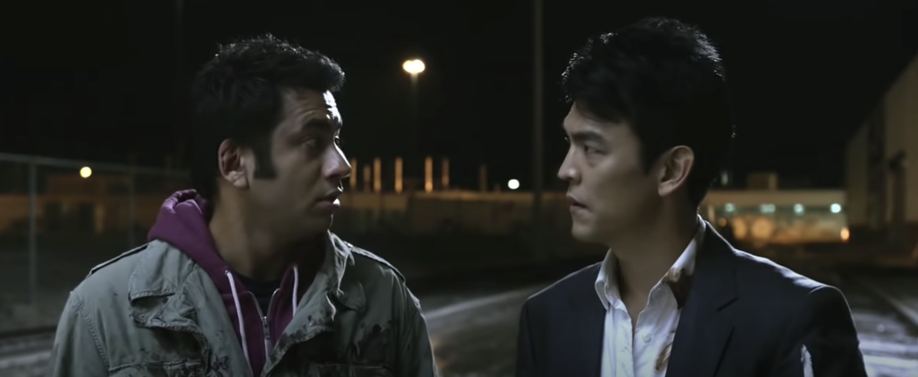 Harold and Kumar, Harold in a suit and Kumar in a hoodie