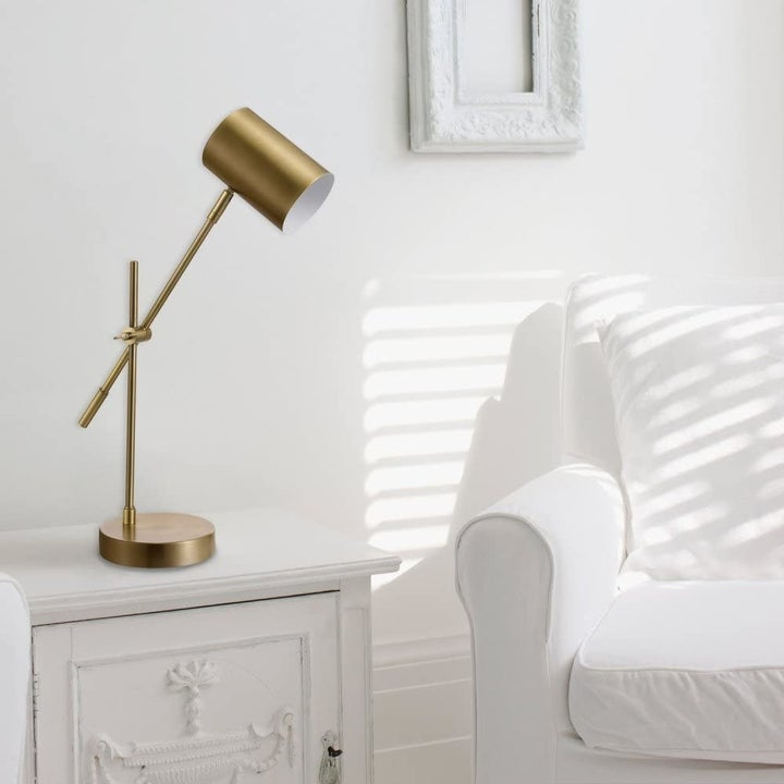 The lamp on a side table