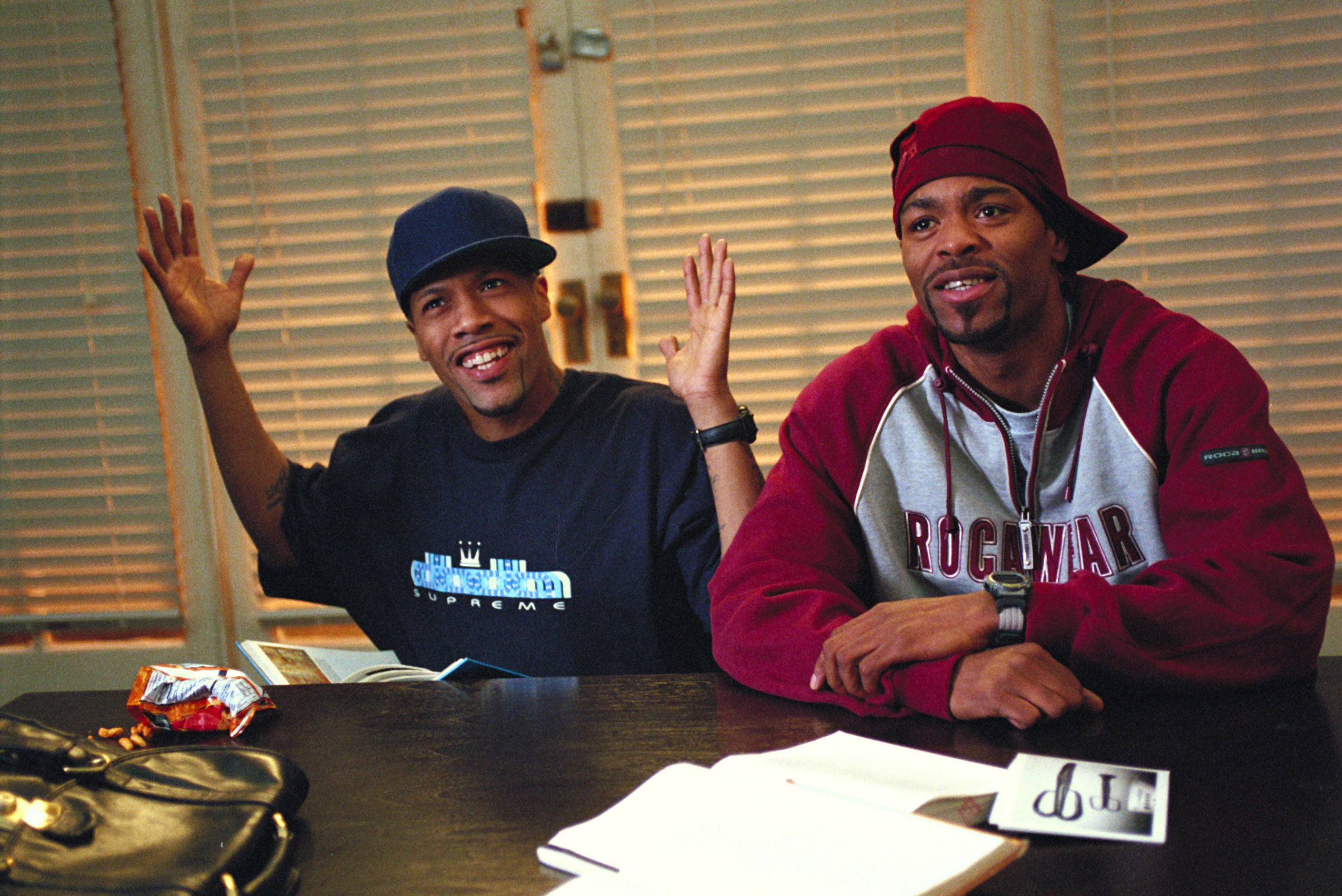 Redman and Method Man studying as Jamal and Silas in How High