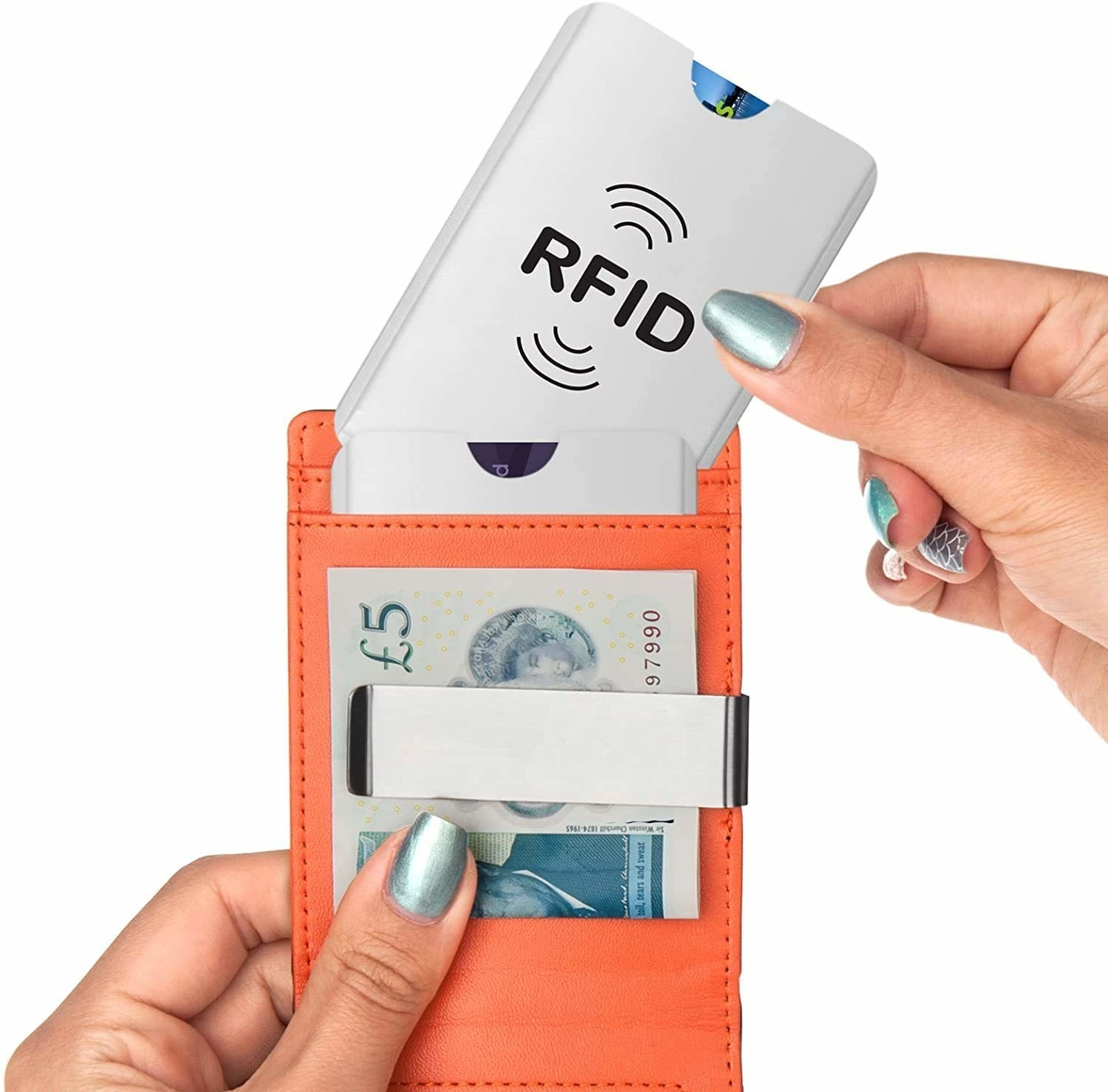 RFID cards kept in a wallet.