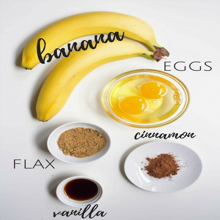 Ingredients for the pancakes