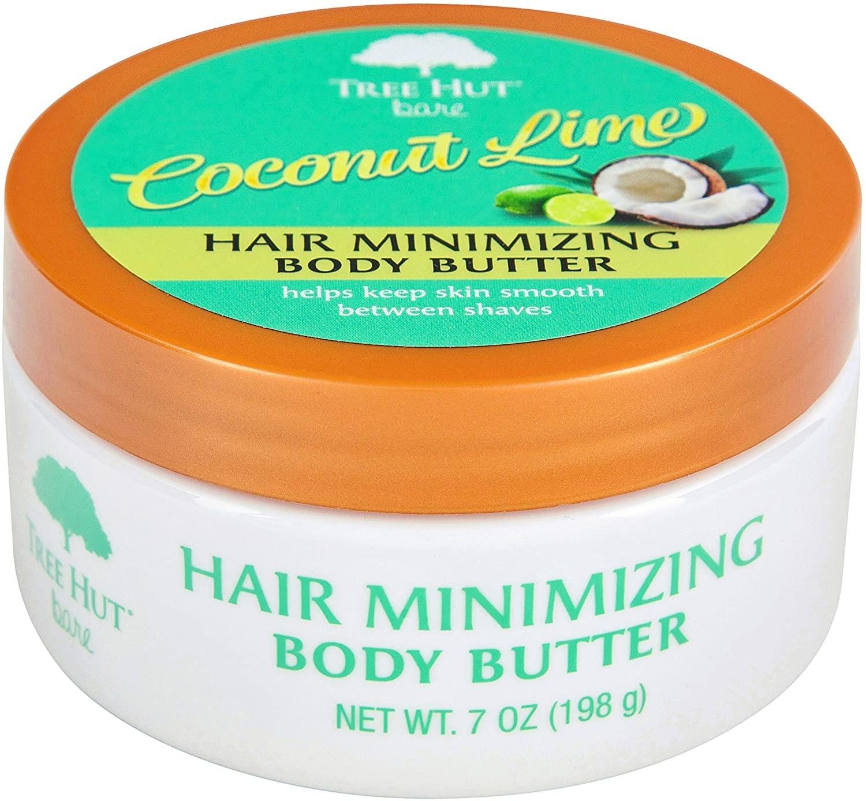 Jar of Tree Hut Hair Minimizing Body Butter