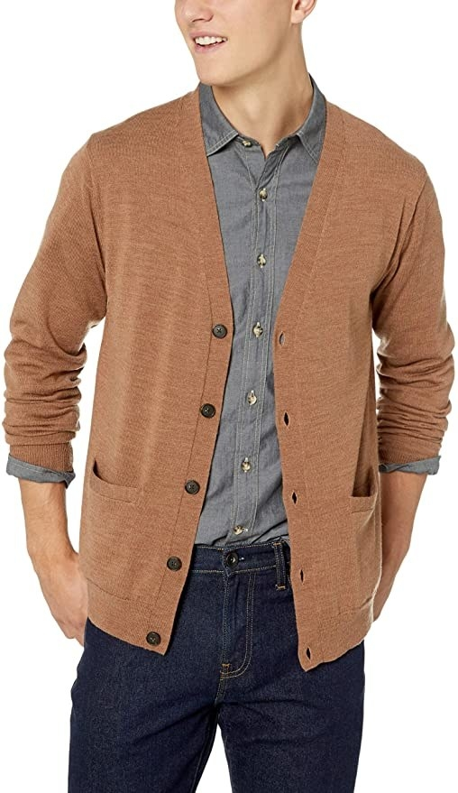 A model wearing the cardigan