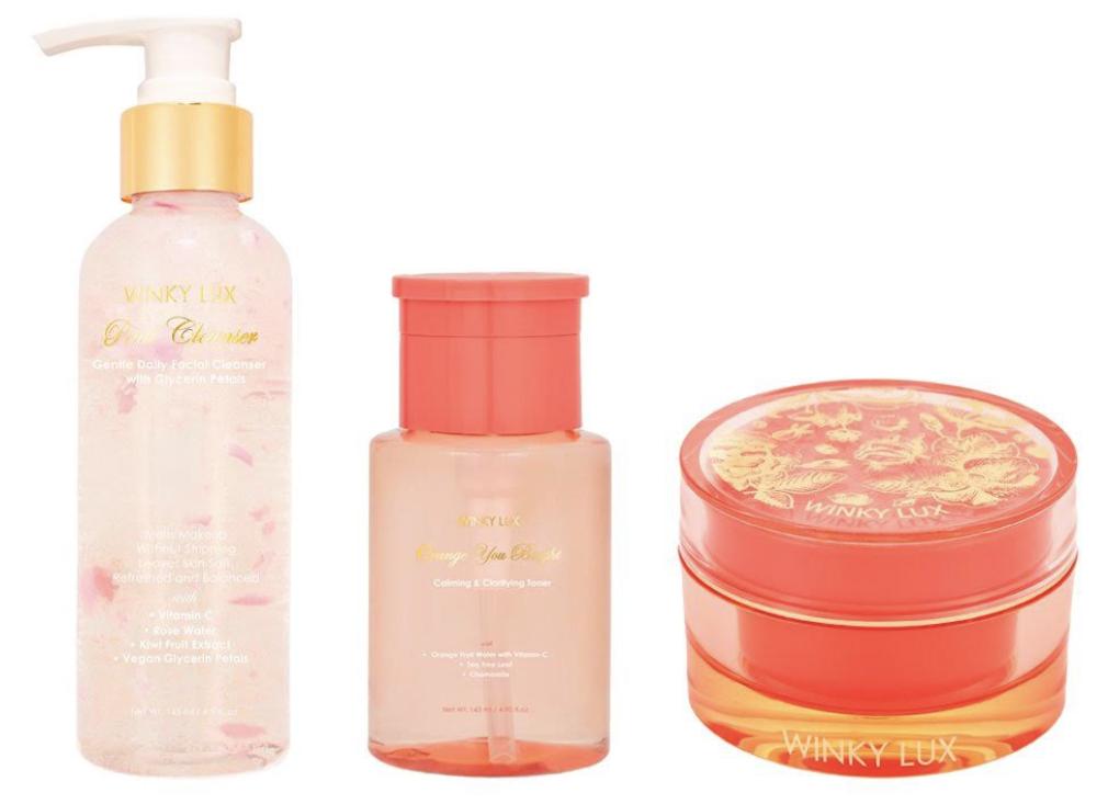 Winky Lux skincare set