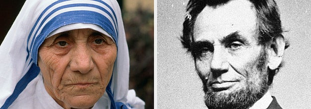 mother theresa and abe lincoln
