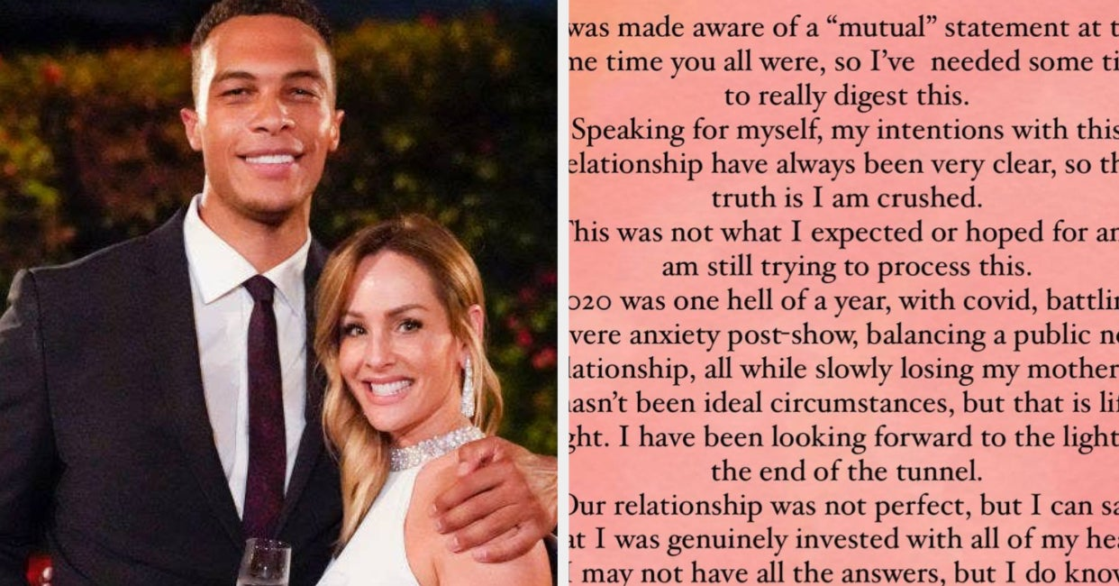 I Am Stunned By Clare Crawley's Response To Dale's Post About Their Breakup