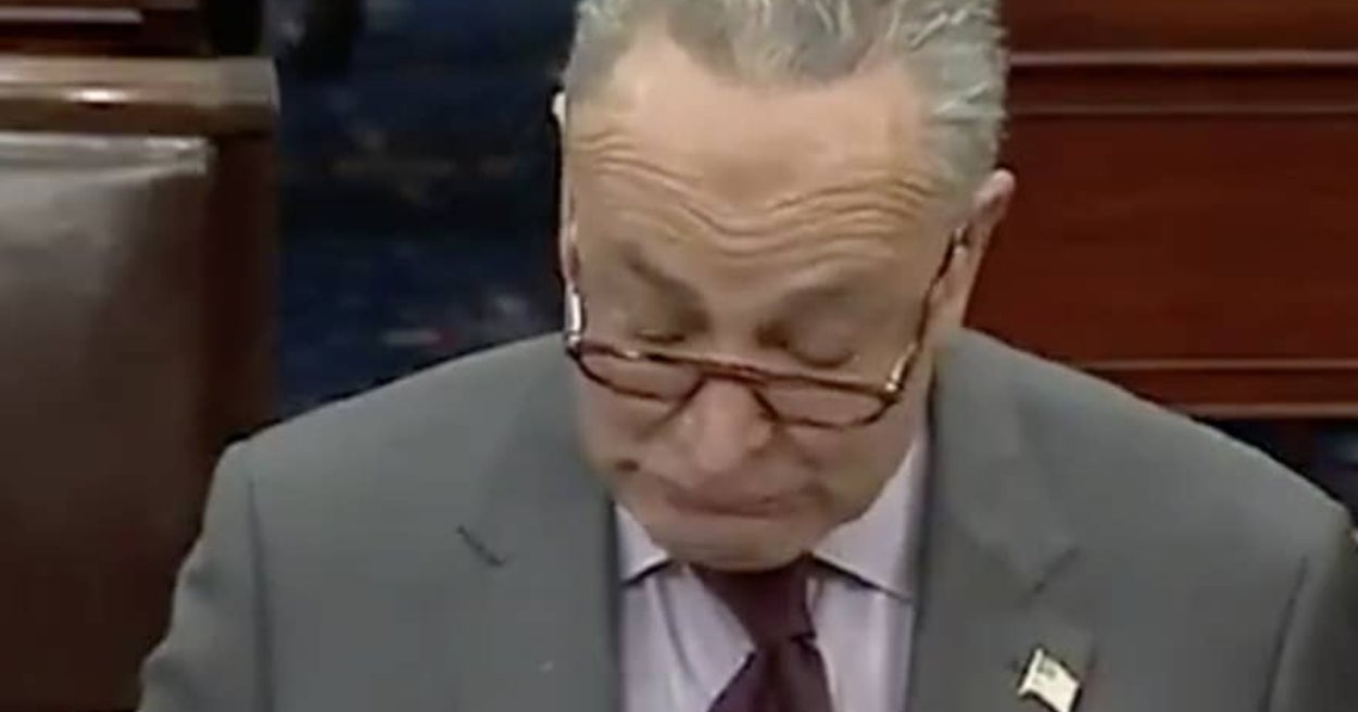 """Chuck Schumer Said Trump """"Incited The Erection"""" Instead Of """"Insurrection"""" By Mistake And I'm Laughing"""