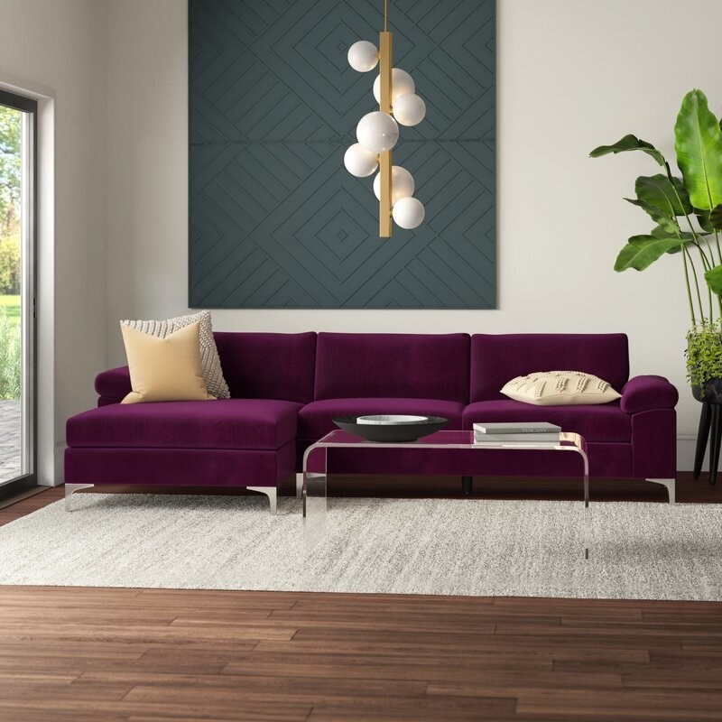 The cozy sofa