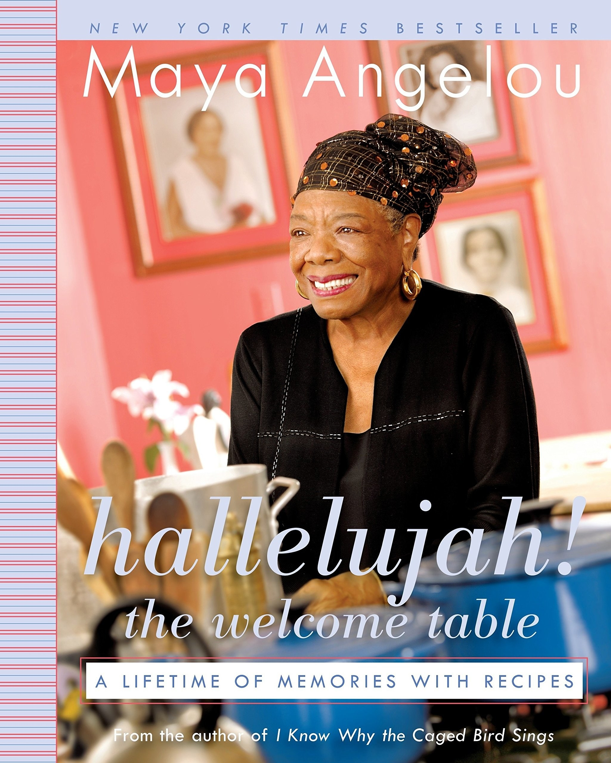 The cover which features author and chef Maya Angelou