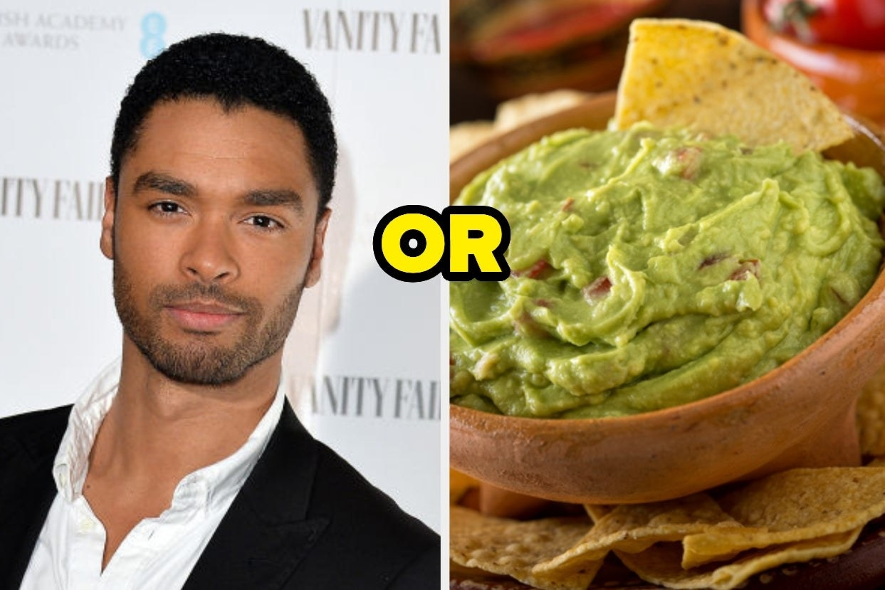 "Regé-Jean Page and guacamole with the word ""or"" between them"