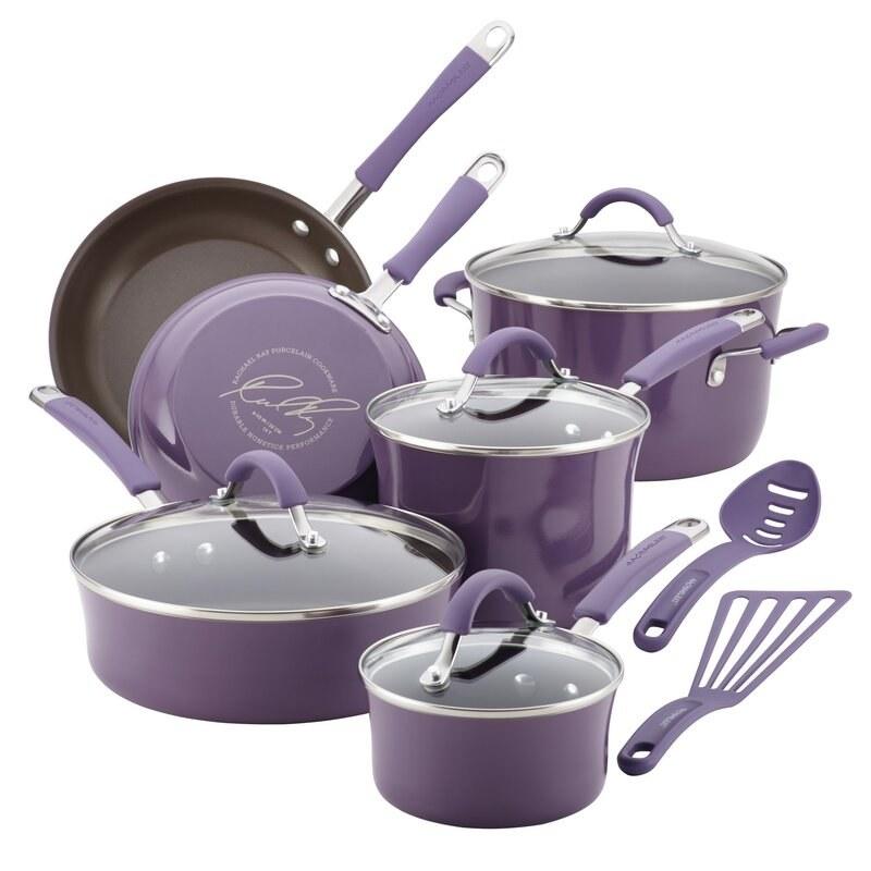 the purple cookware set