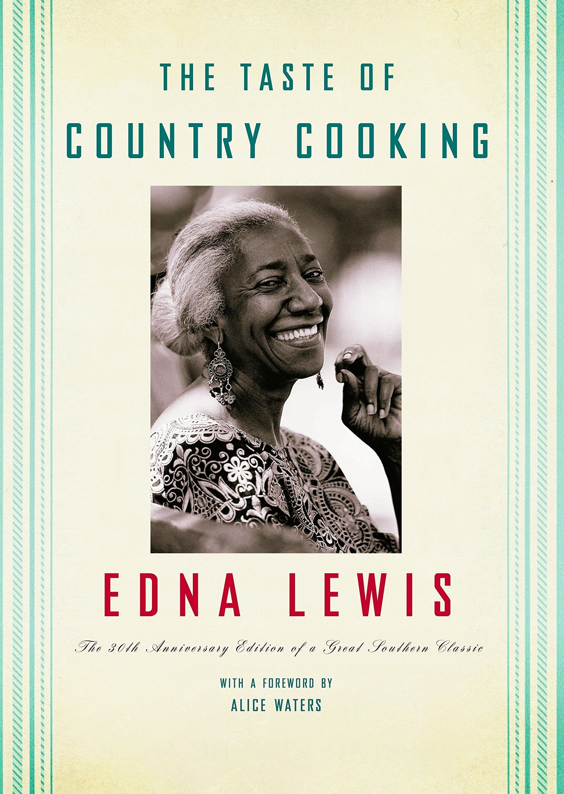 The cover of the book with a black and white portrait of chef and author Edna Lewis