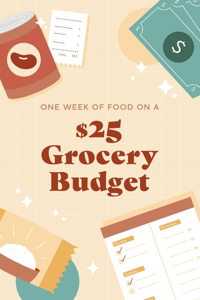 one week of eating on a $25 grocery budget