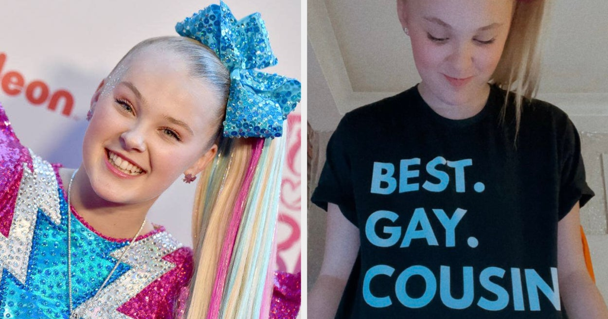 """People Think JoJo Siwa Came Out After She Posted A Photo Of Herself Wearing A \""""Best Gay Cousin Ever\"""" Shirt - buzzfeed"""