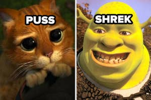 puss in boots and shrek