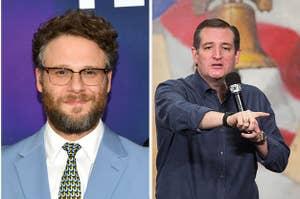 Seth Rogen and Ted Cruz