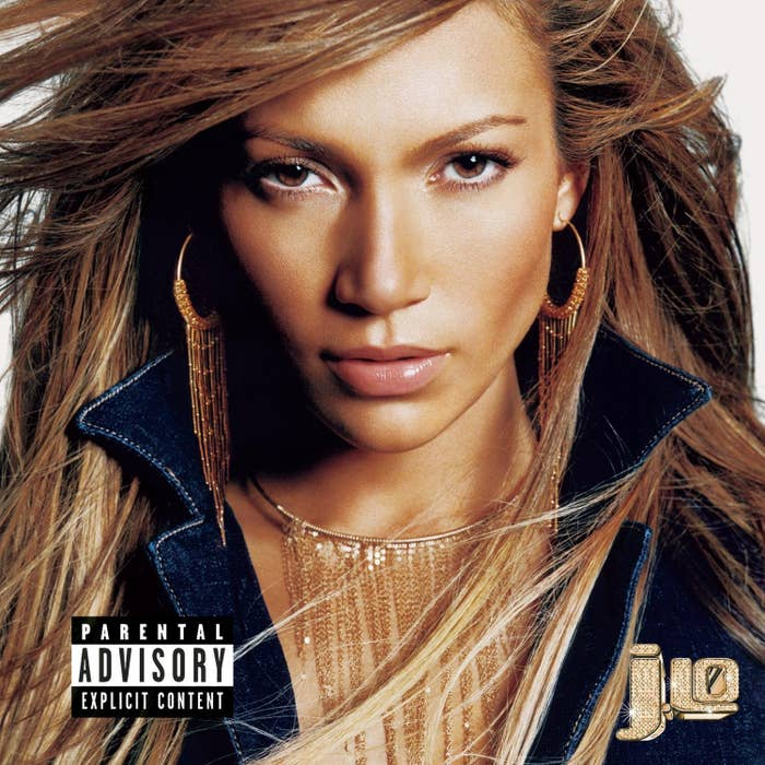 Jennifer Lopez on the cover for Jennifer Lopez's 2001 album J.Lo