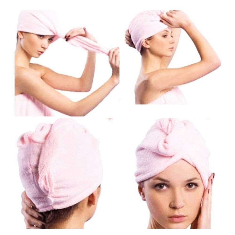 Steps showing how to use the turban.