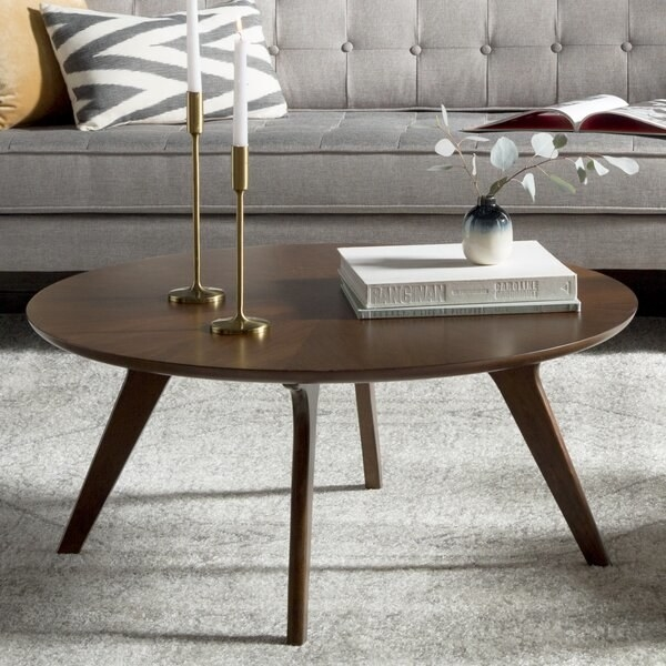 the brown coffee table