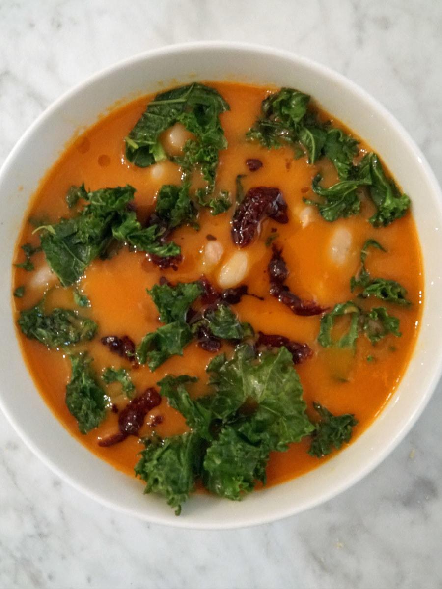 Tuscan white bean soup.