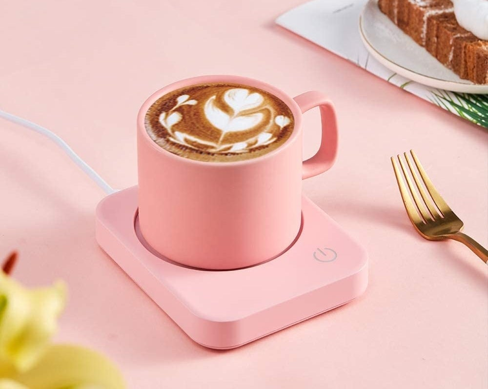 the pink desktop heater