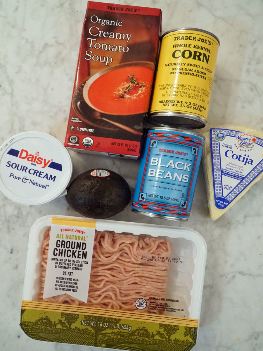 Ingredients for taco tomato soup.