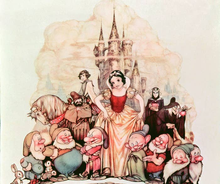 The original 1937 Snow White and the Seven Dwarfs poster