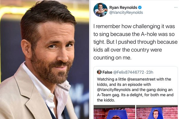 """Ryan Reynolds Tweeted An R-Rated Joke About His Time On """"Sesame Street,"""" And It Is NOT Kid-Friendly"""