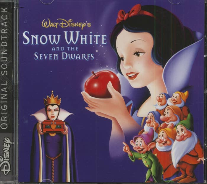 CD cover for the early 2000s release of the Snow White soundtrack