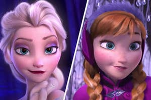 "Elsa and Anna from ""Frozen"""