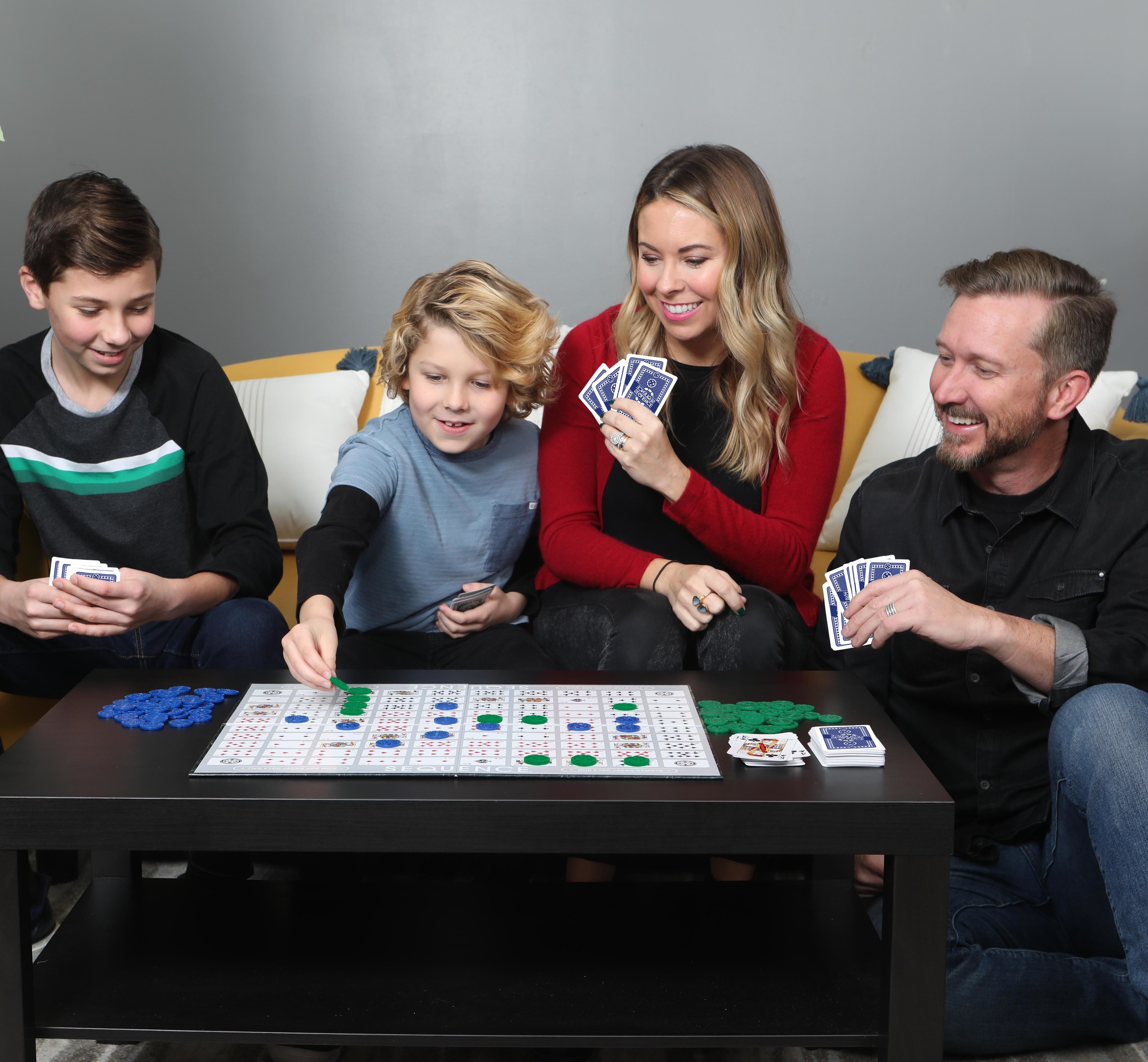 A family playing the game