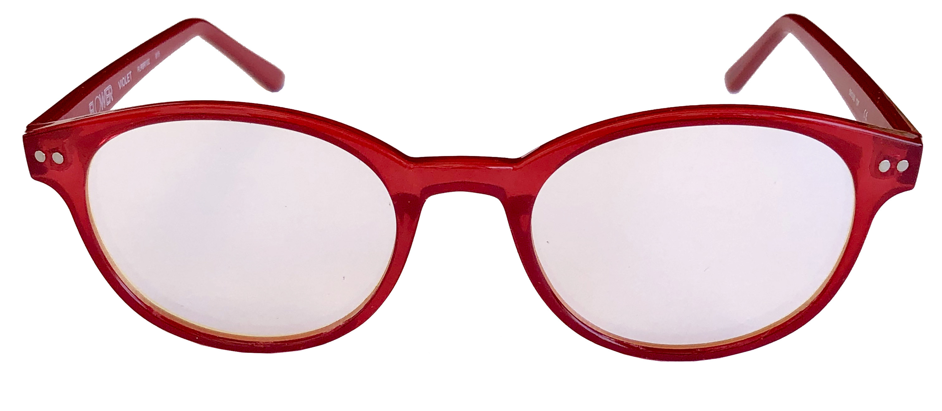 The red glasses