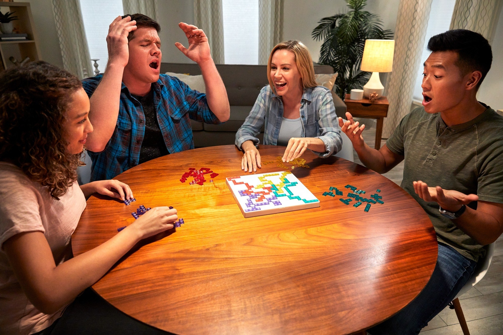A group playing the game