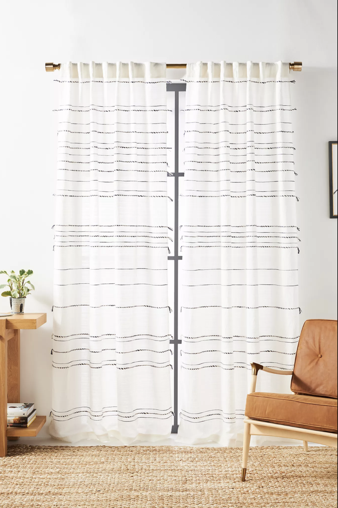 The curtains in a living room