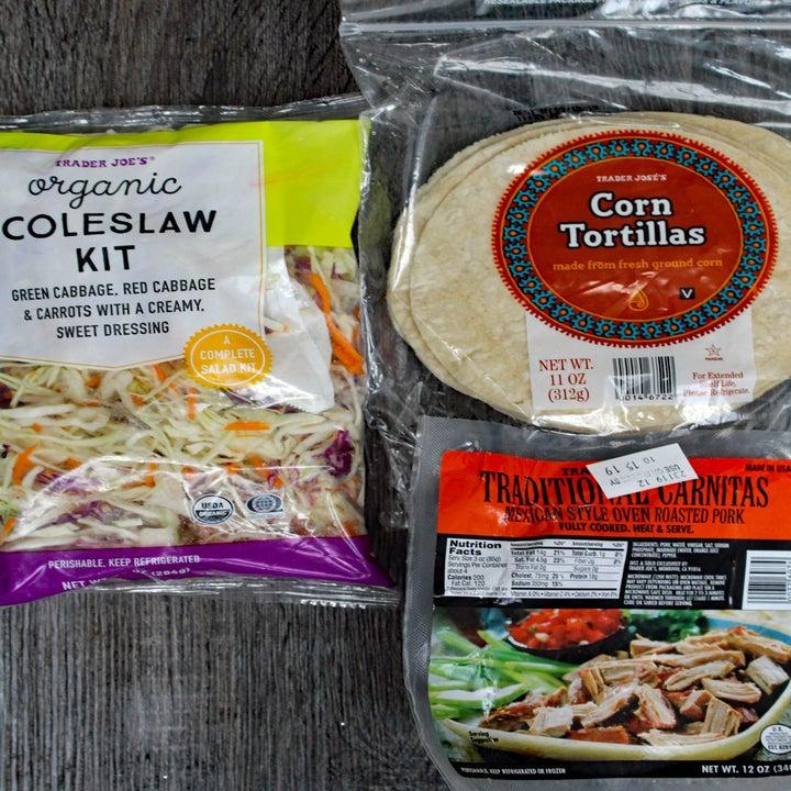 Ingredients for pork carnitas.