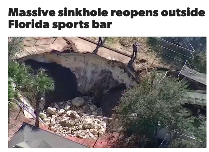 a huge ass sink hole