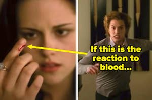 "If Jasper from ""Twilight"" attacks at a little bit of blood, then..."