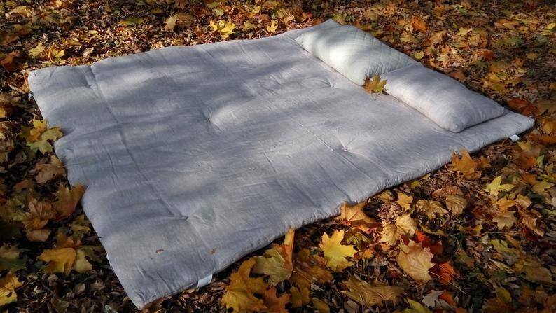 grey rectangular topper