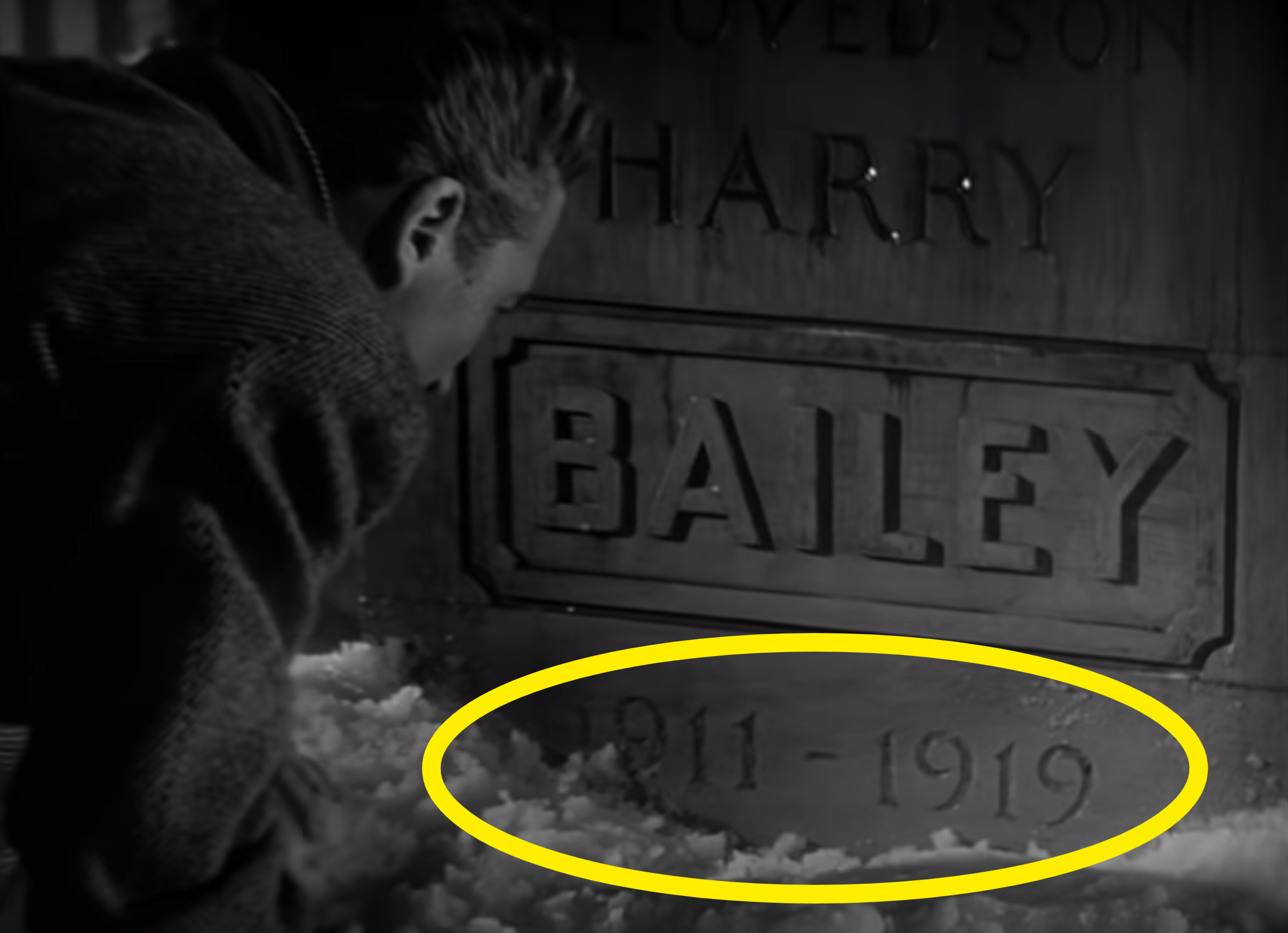 The grave says Harry Bailey 1911-1919