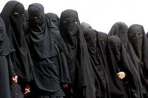 women in hijab and burga