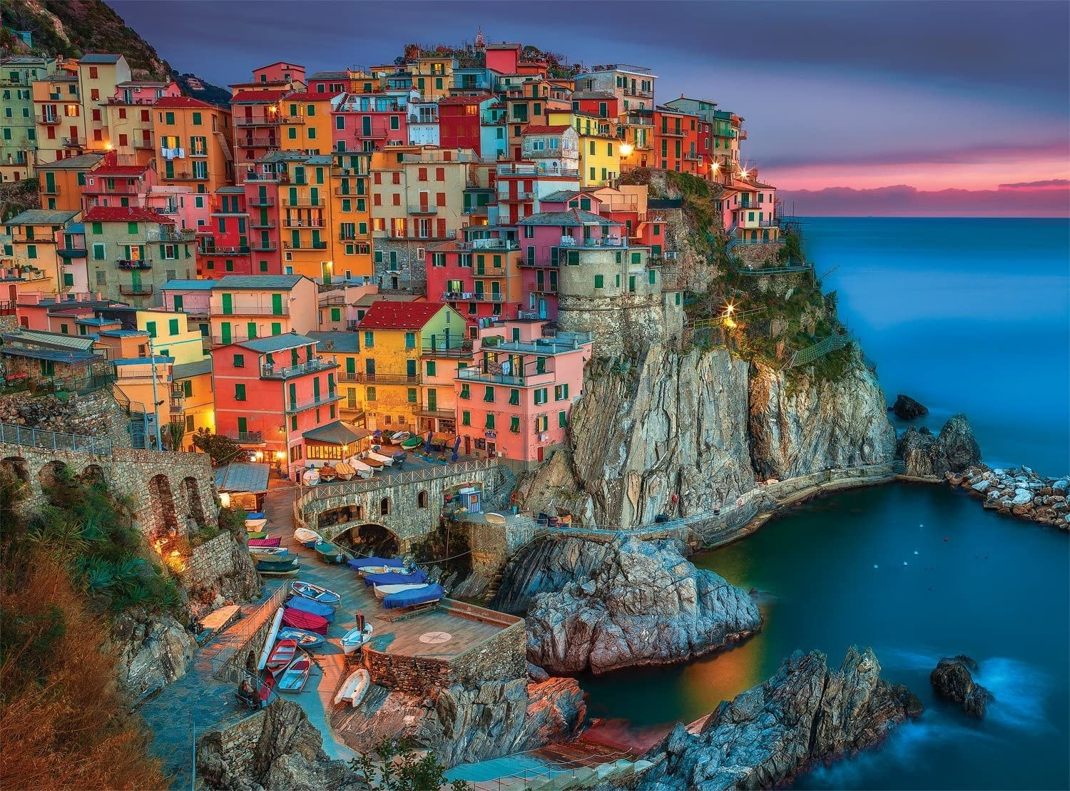 The colourful 1,000-piece puzzle of a cliff-side village