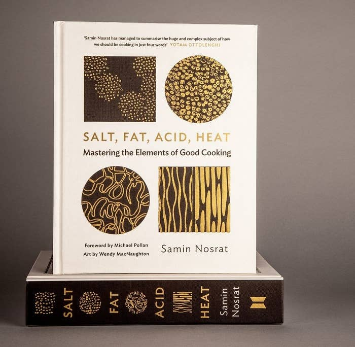 The cover of Salt Fat Acid Heat by Samin Nosrat