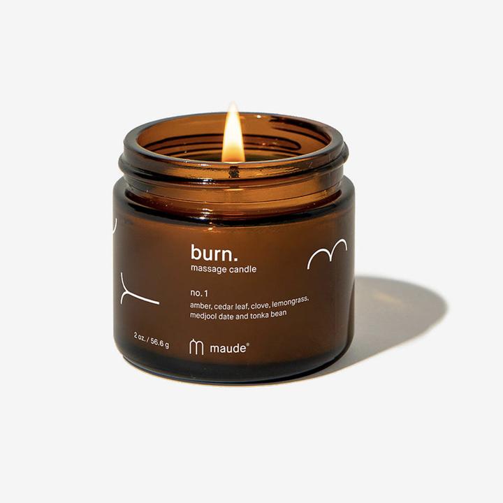 Maude Burn candle burning