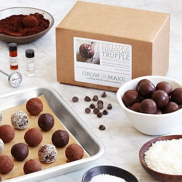 Contents of make-you-own truffle kit