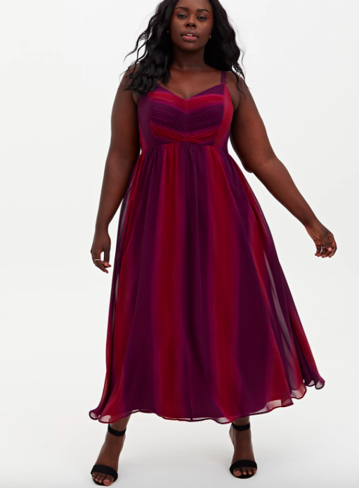 A model wearing the maxi dress