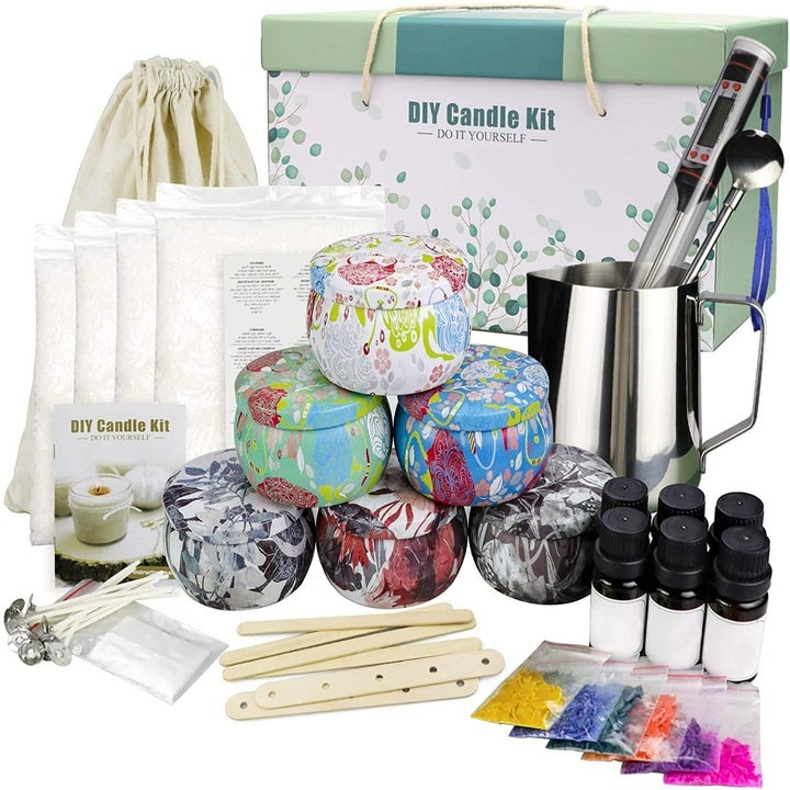 Contents of candle making kit