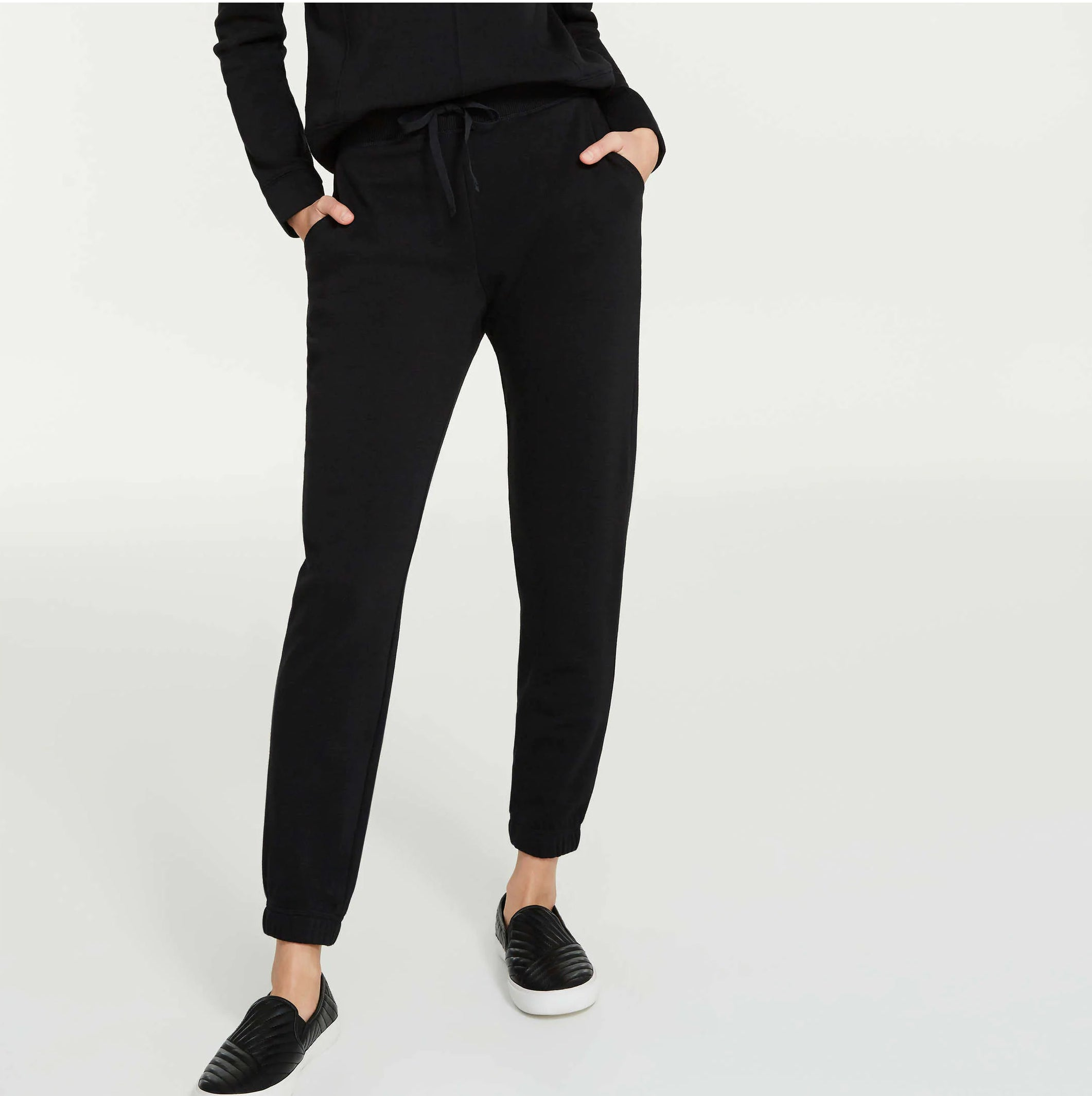 A person wearing jogger pants
