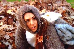 Victoria dressed in a squirrel costume