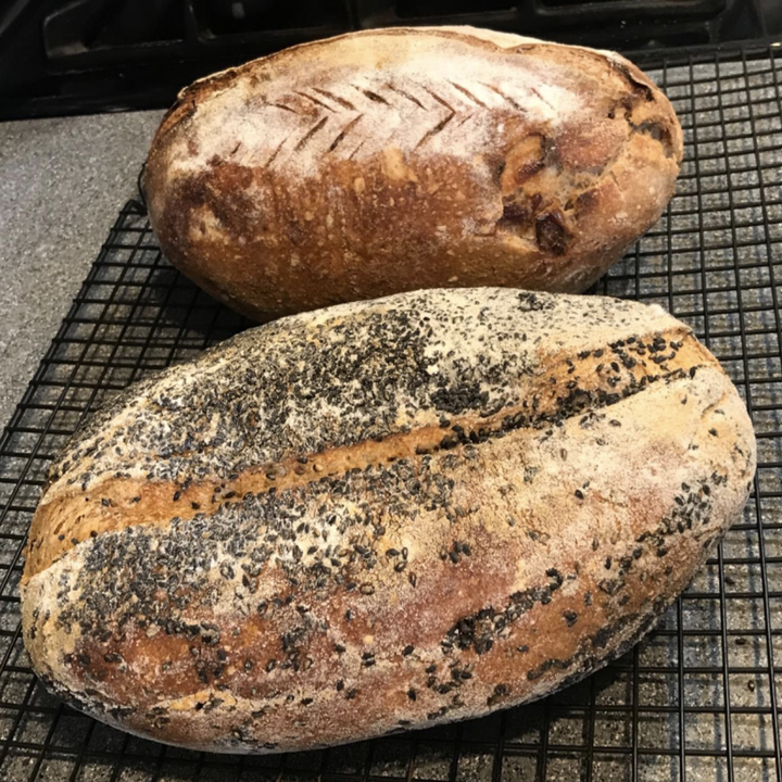 reviewer photo of two loaves of bread