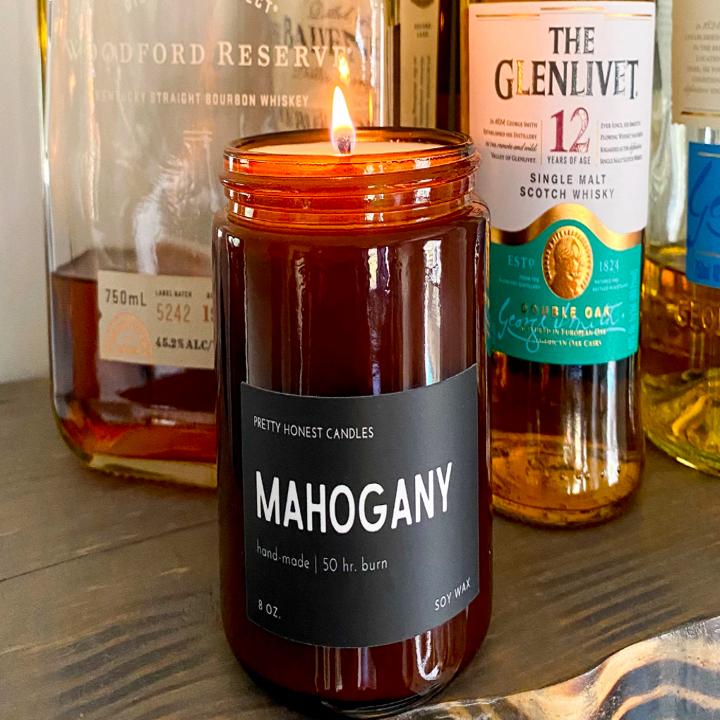Mahogany candle